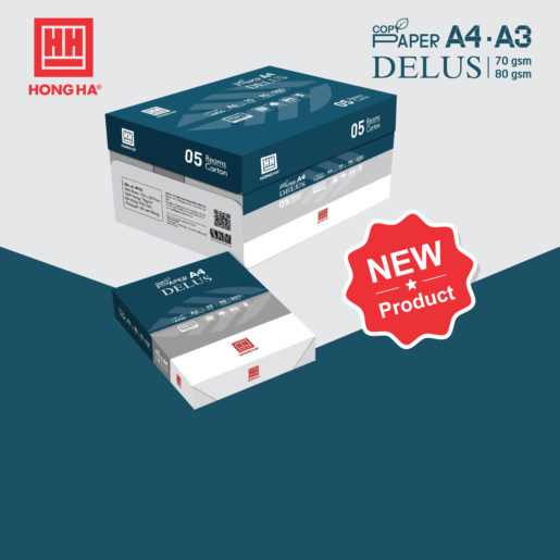 Hong Ha Stationery has officially launched a new product of Hong Ha Delus printing paper to the market