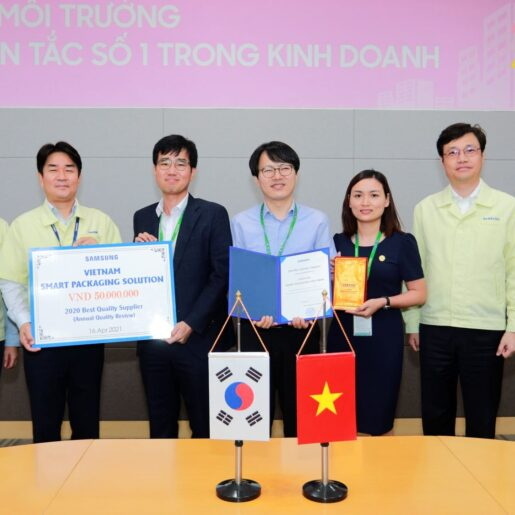 """SPS receives """"Best quality supplier"""" in 2020 by Samsung"""